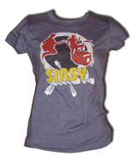 "SIRSY ""Super Hero"" Short Sleeve Fitted Girly Tee"